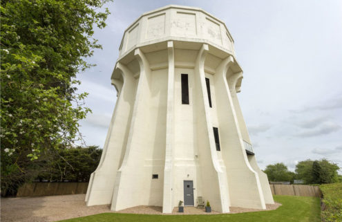 Converted water tower hits the market in the UK's Warwickshire for £1.5m
