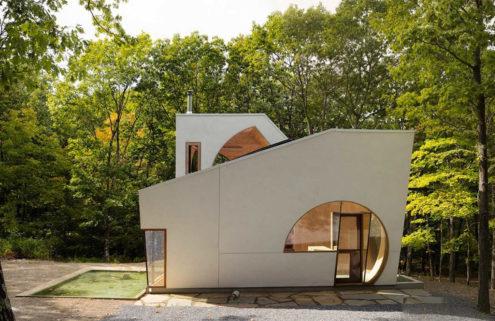 Exterior of In House by Steven Holl