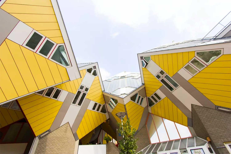 Kubuswoningen by Piet Blom, Rotterdam