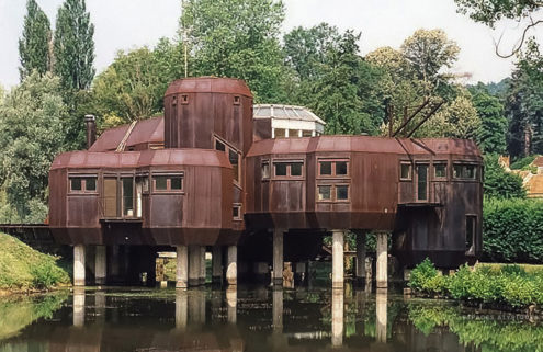 Marc Held's steel house on stilts lists for €1.7m in Paris