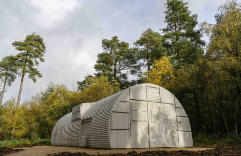 Rachel Whiteread builds a concrete military hut in a Yorkshire forest
