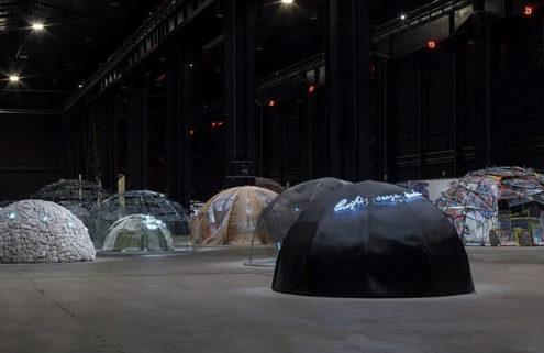 Igloos pop up inside Pirelli HangarBicocca for new Mario Merz retrospective