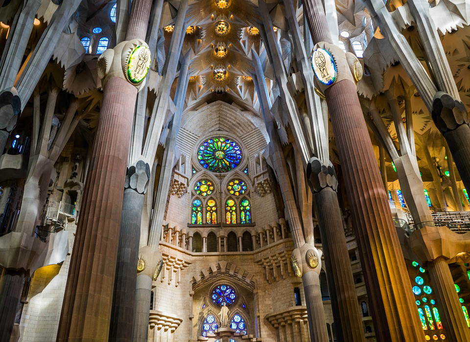 Sagrada Familia interiors
