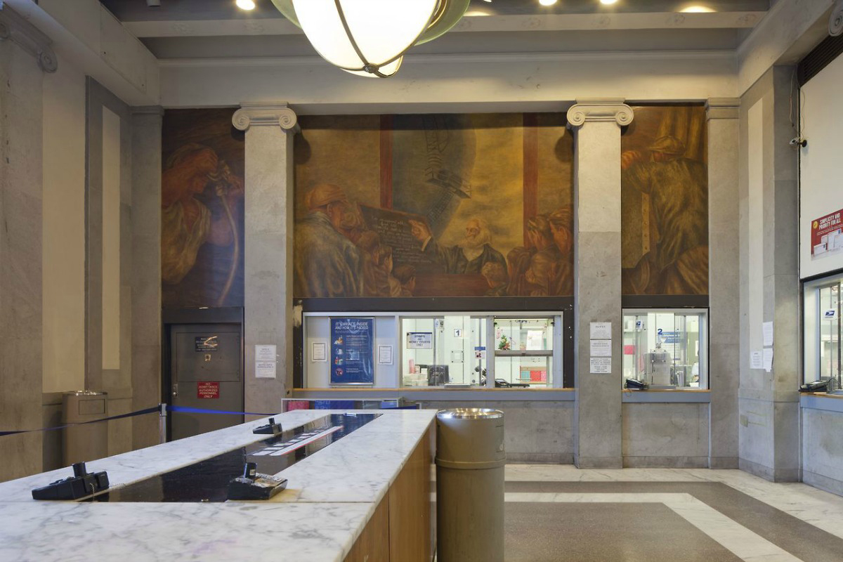 Bronx Post Office murals