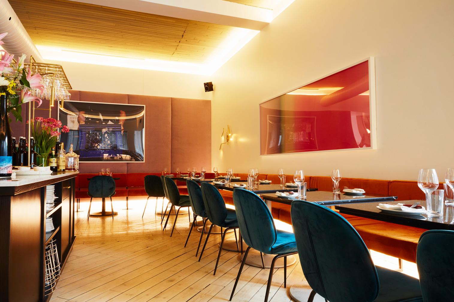 Elena restaurant interior in Montreal