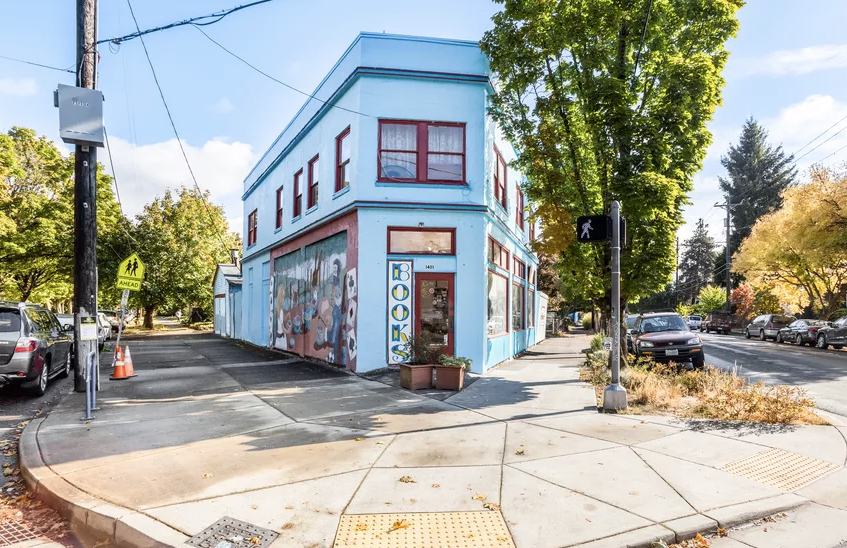 Live/work bookshop hits the market in Portland for $1.5m