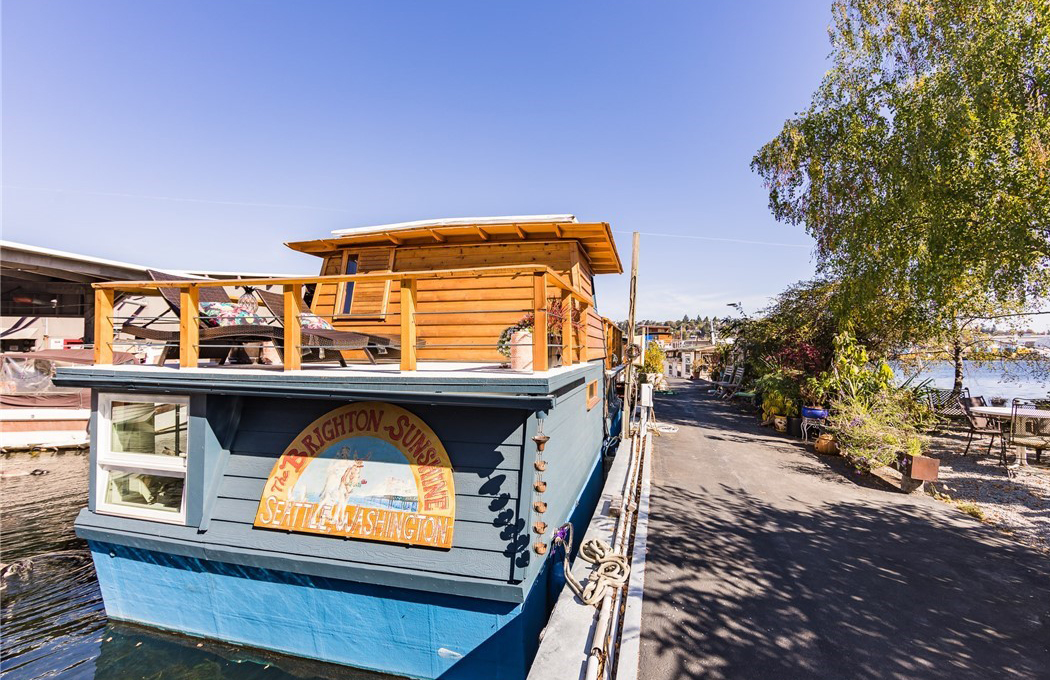 This 510 sq ft houseboat is full of surprises