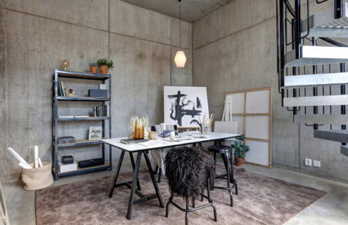 Peek inside this industrial live/work apartment in Malmö