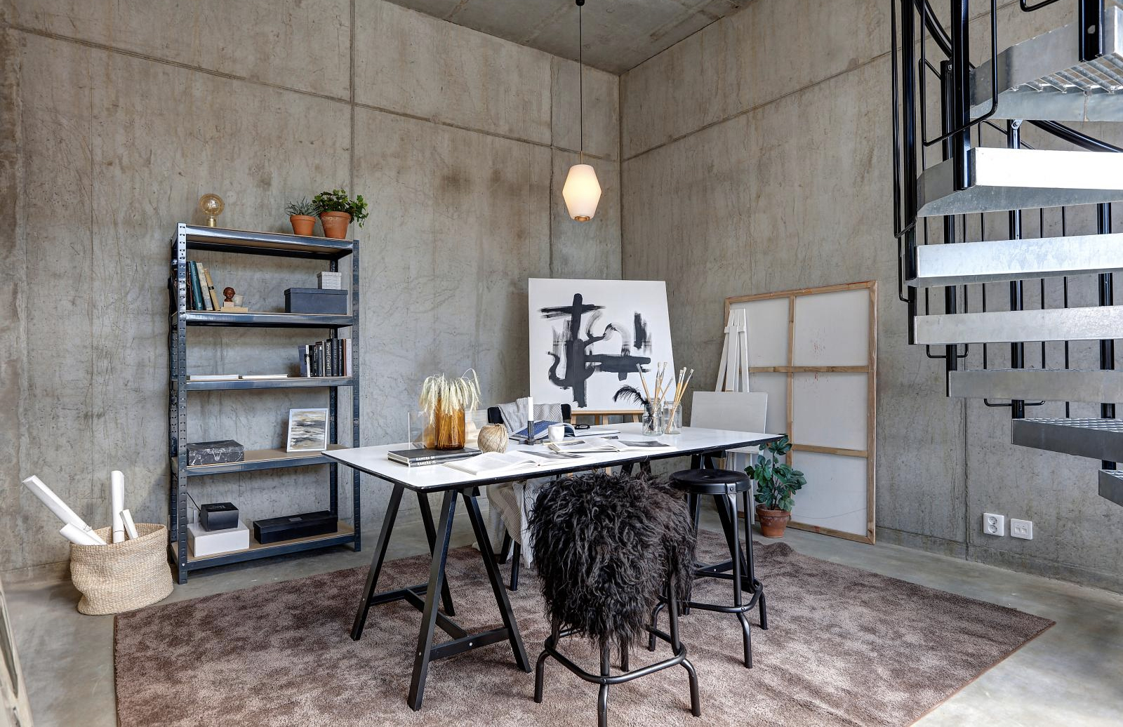 Peek Inside This Industrial Live Work Apartment In Malmo The Spaces