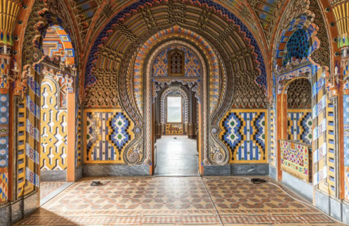Kaleidoscopic castle beloved by urban explorers lists for $18.3m in Tuscany