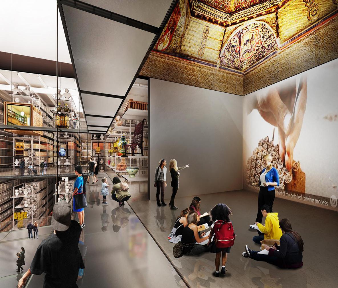 Interior render of the Diller Scofidio + Renfro designed Here East building. Courtesy Diller Scofidio + Renfro