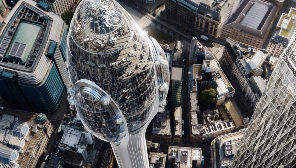 The Tulip viewing tower for City of London