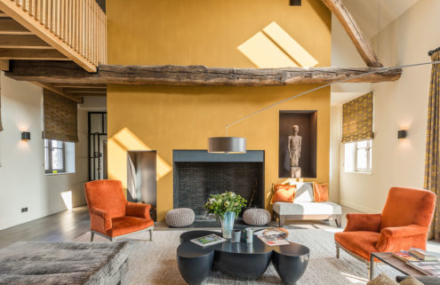 Revamped Belgian farmhouse has a colourful twist