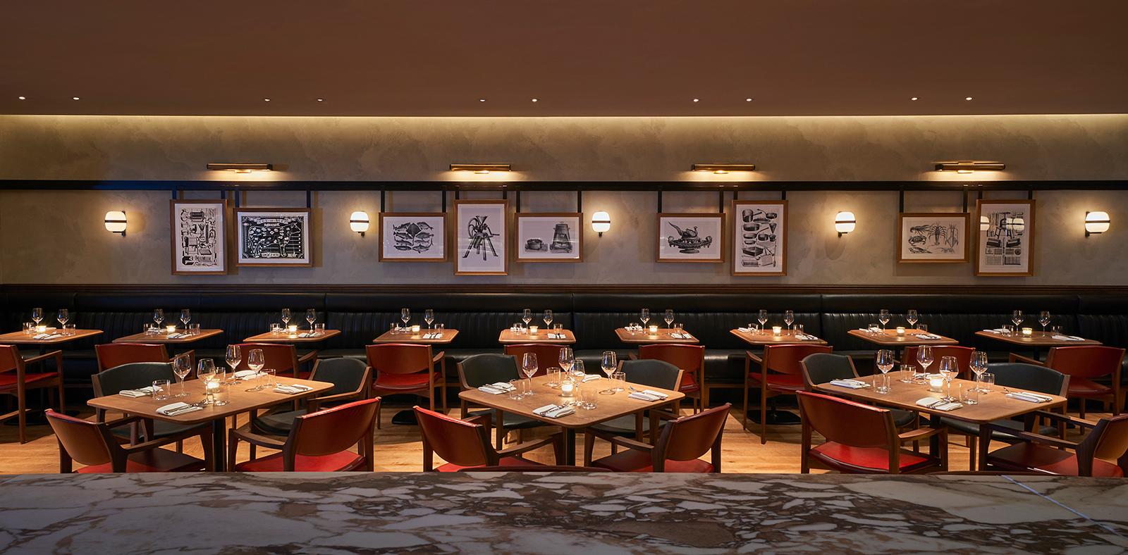 Gridiron bar interior in London