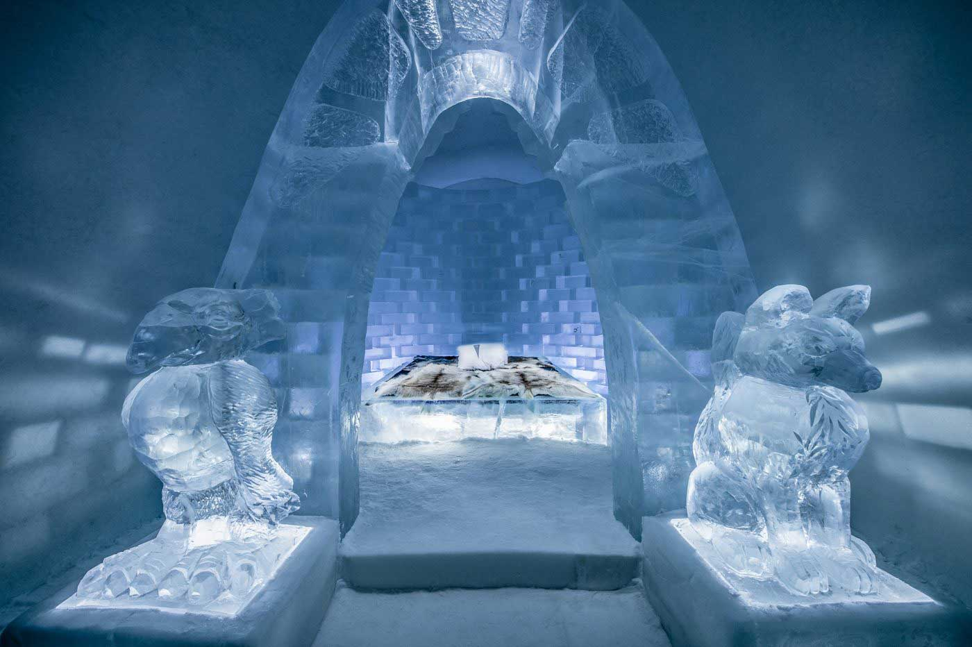 This year's Icehotel has forest, ocean, and sweet shop-themed rooms