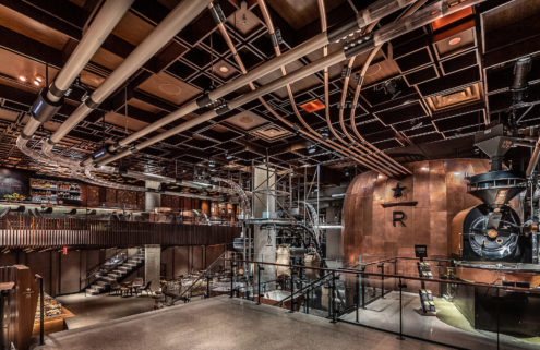 Starbucks opens industrial-style roastery in NYC's Meatpacking District