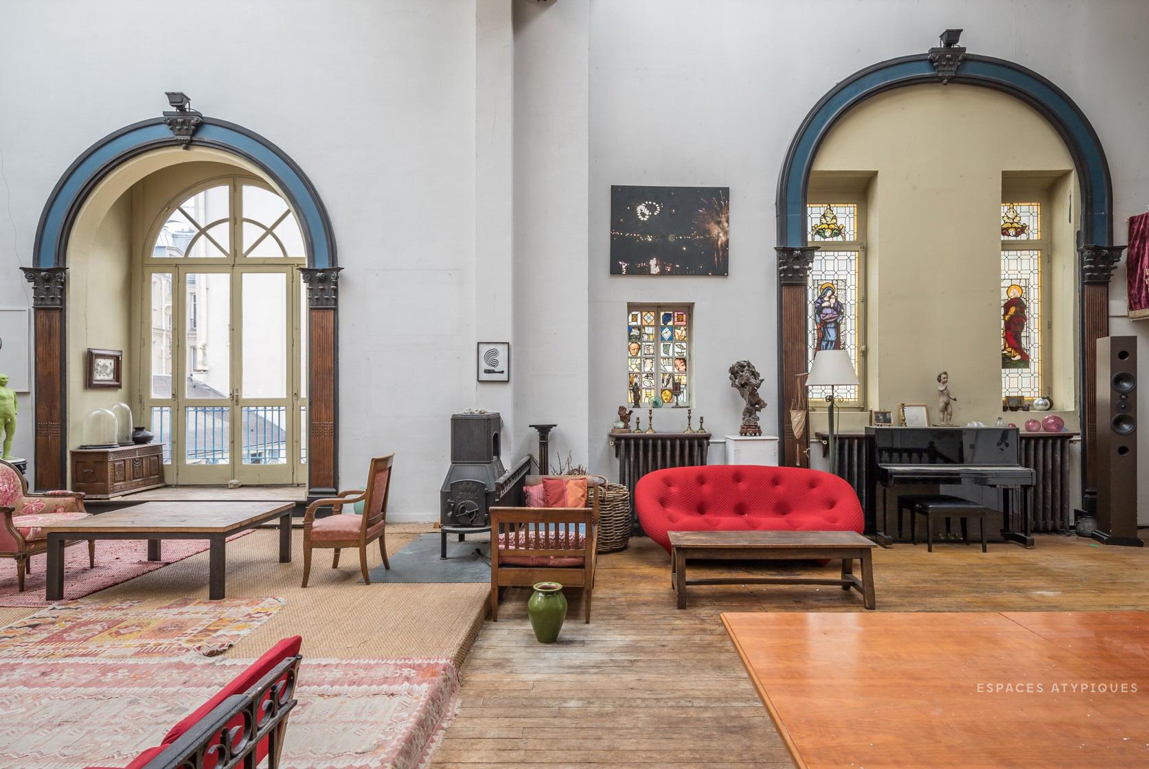 Antique-filled atelier for sale in Paris