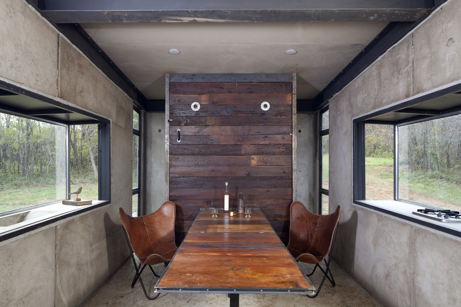Virginia's tiny Lost Whiskey Cabin is miniature brutalism