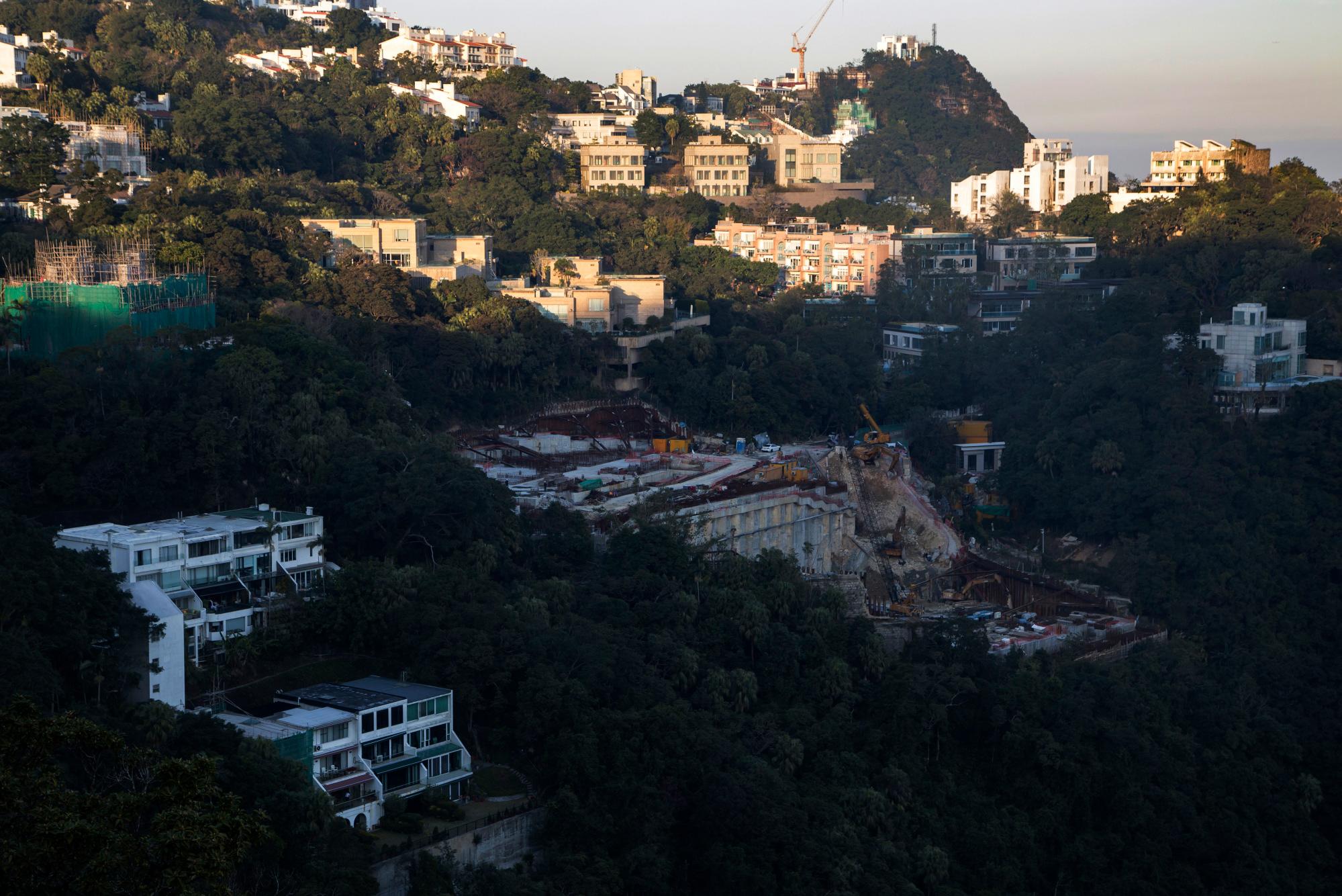 Peak area of Hong Kon