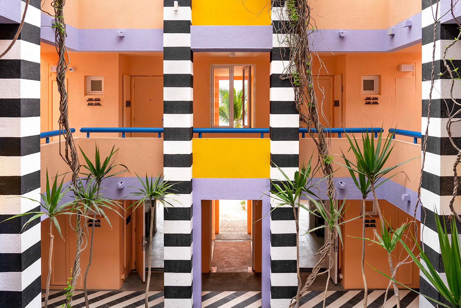 Camille Walala brings kaleidoscopic colour to Mauritius hotel SALT of Palmar