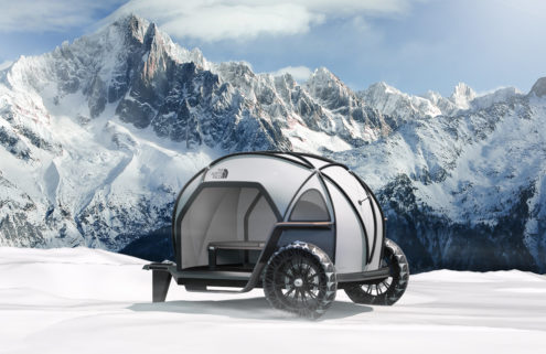 BMW teams up with The North Face on a futuristic element-proof camper