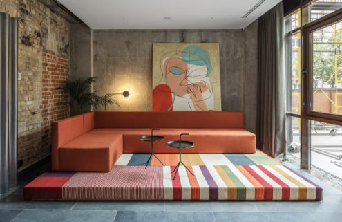 Kiev's BURSA hotel pays homage to Bauhaus design