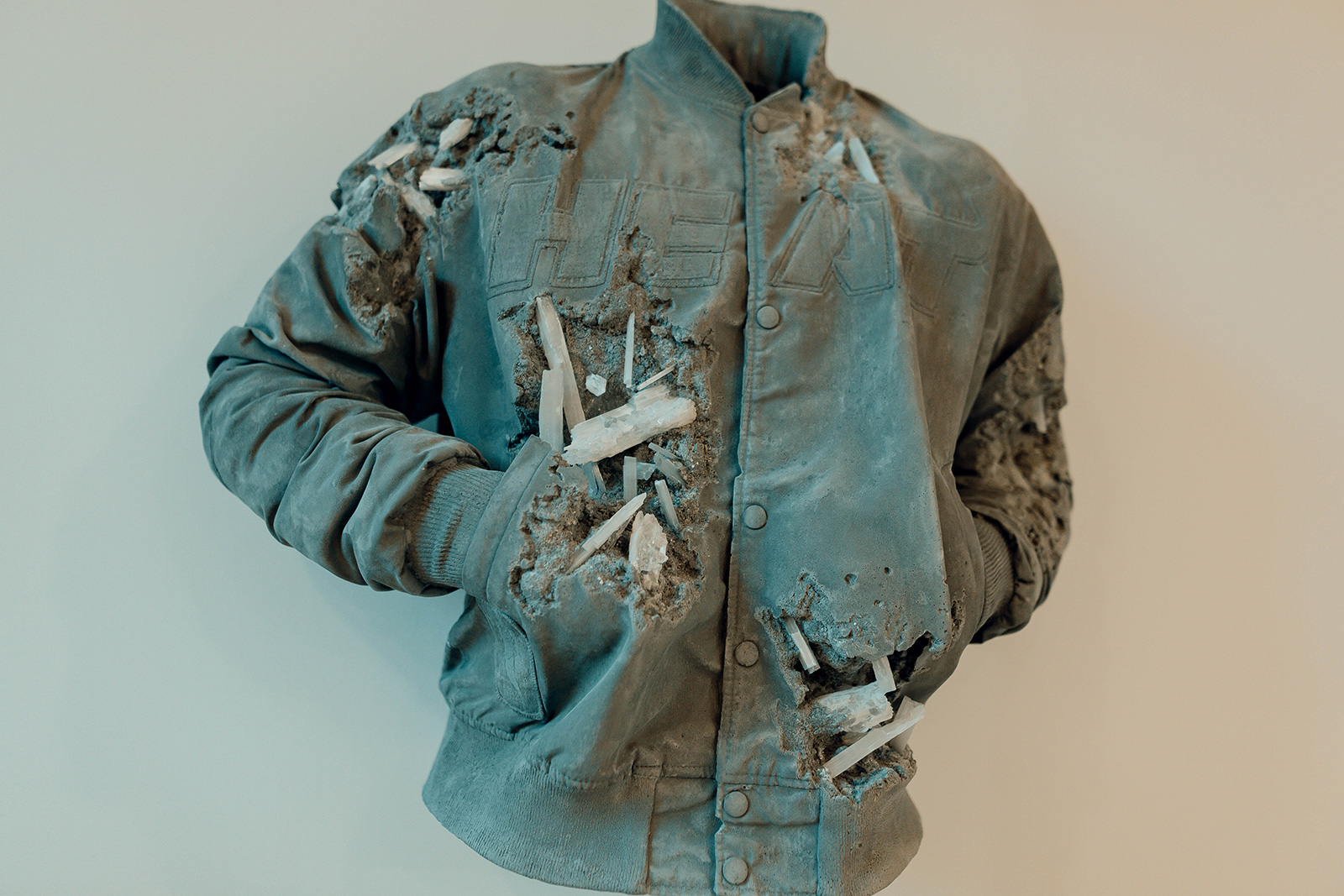 Daniel Arsham, 'Miami Heat Jacket'. Courtesy of the artist and Moco Museum (c)