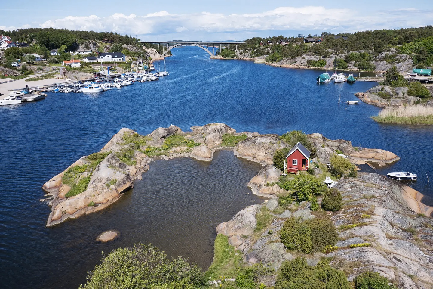 Norwegian island with tiny home for rent via Airbnb