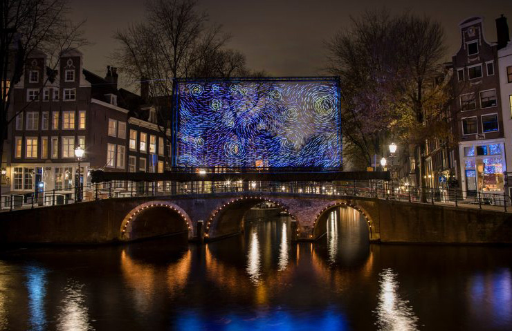 Starry Night glowing artwork