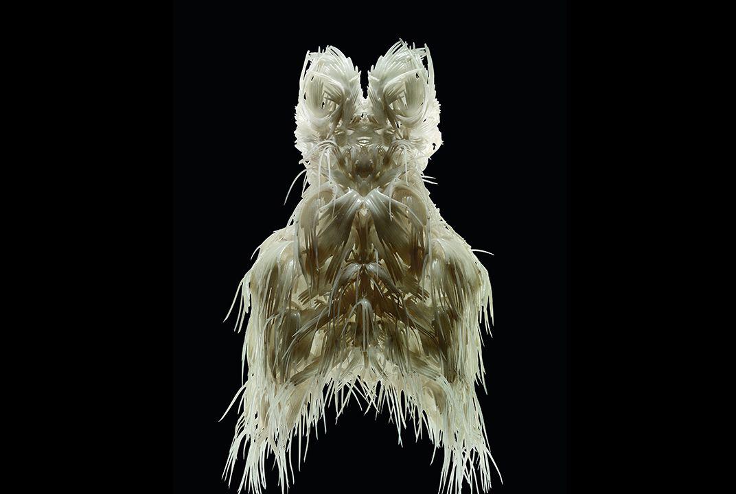Iris van Herpen sculptural gown