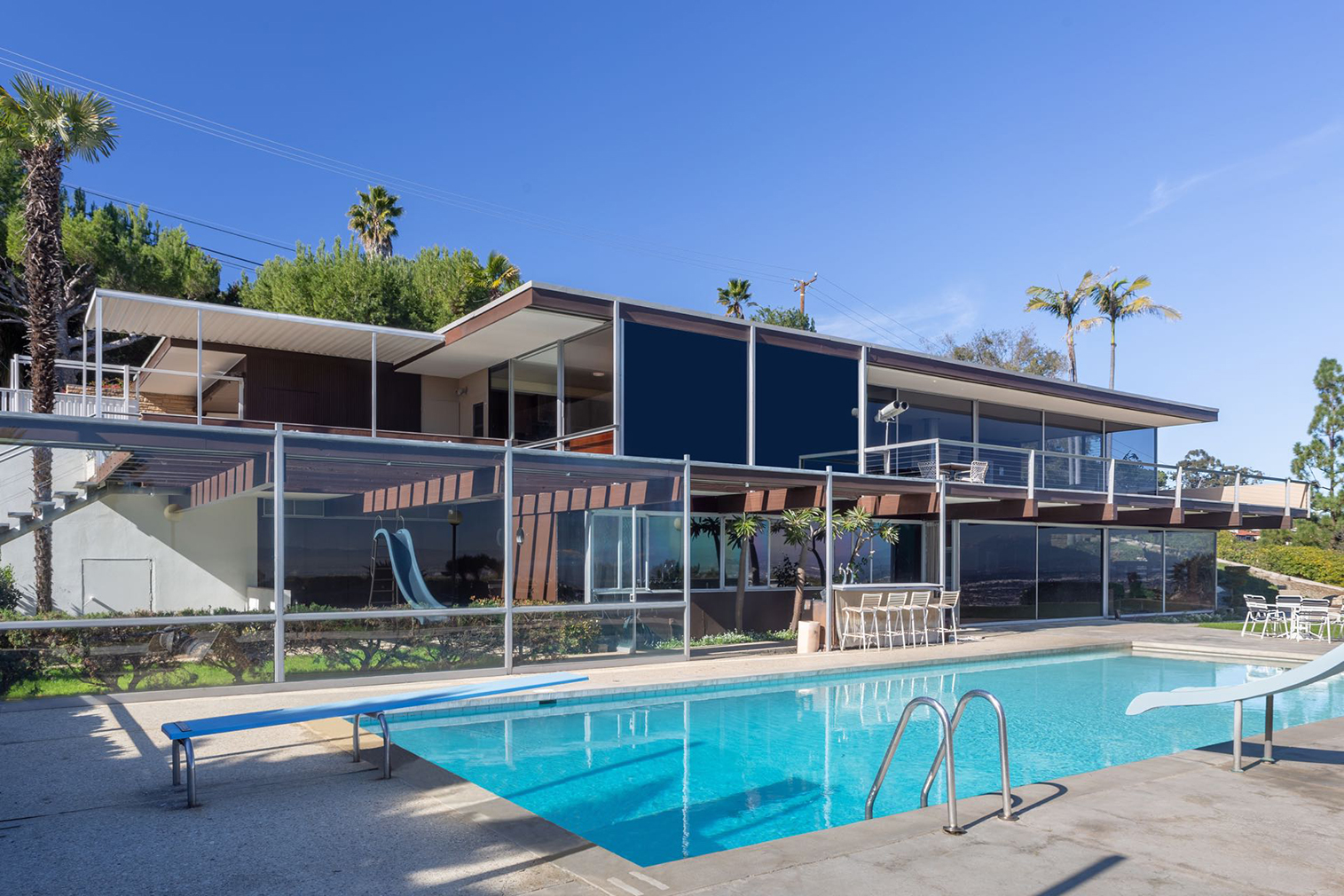 The bumper-sized John Rados House by Richard Neutra is for sale in Los Angeles