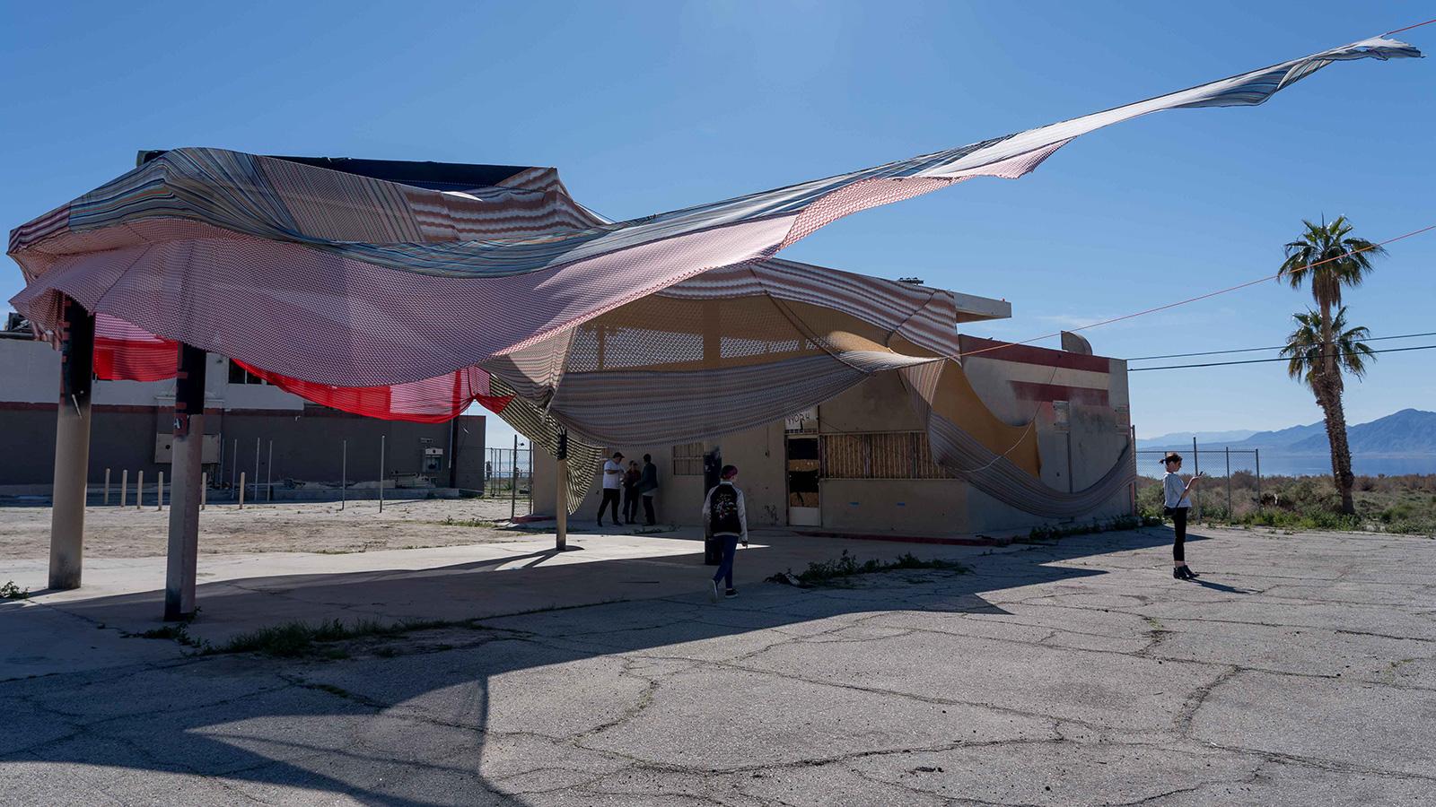 Eric N Mack Halter installation at Desert X 2019