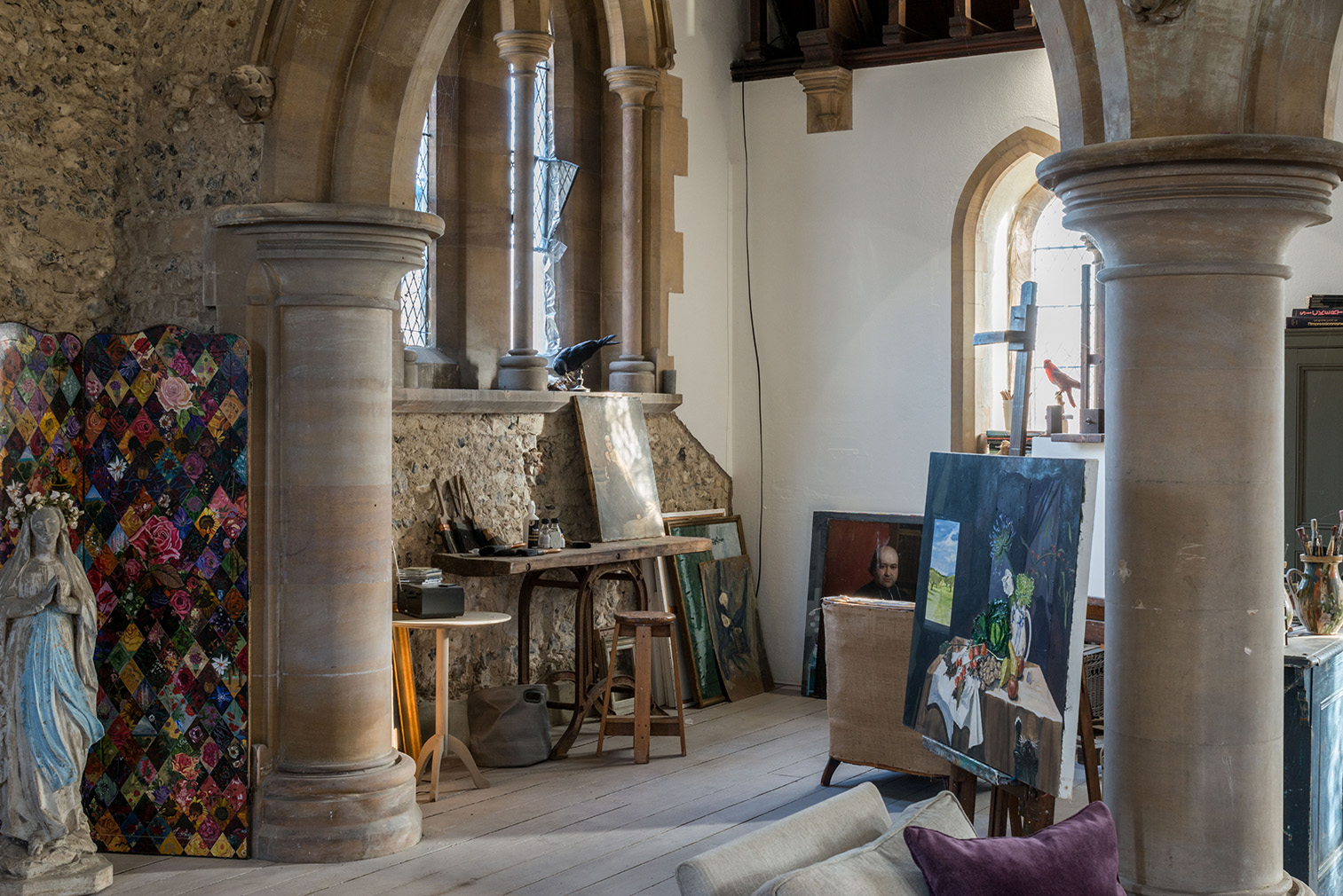 Go inside a dramatic Gothic church conversion in the UK's Kent countryside