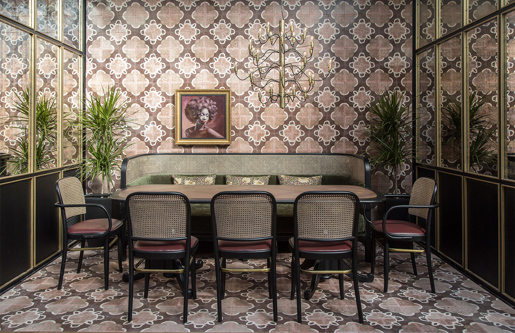 Minos Kosmidis designed the interiors for new Athens bar and restaurant Papillon which channels a 19th-century Parisian vibe.