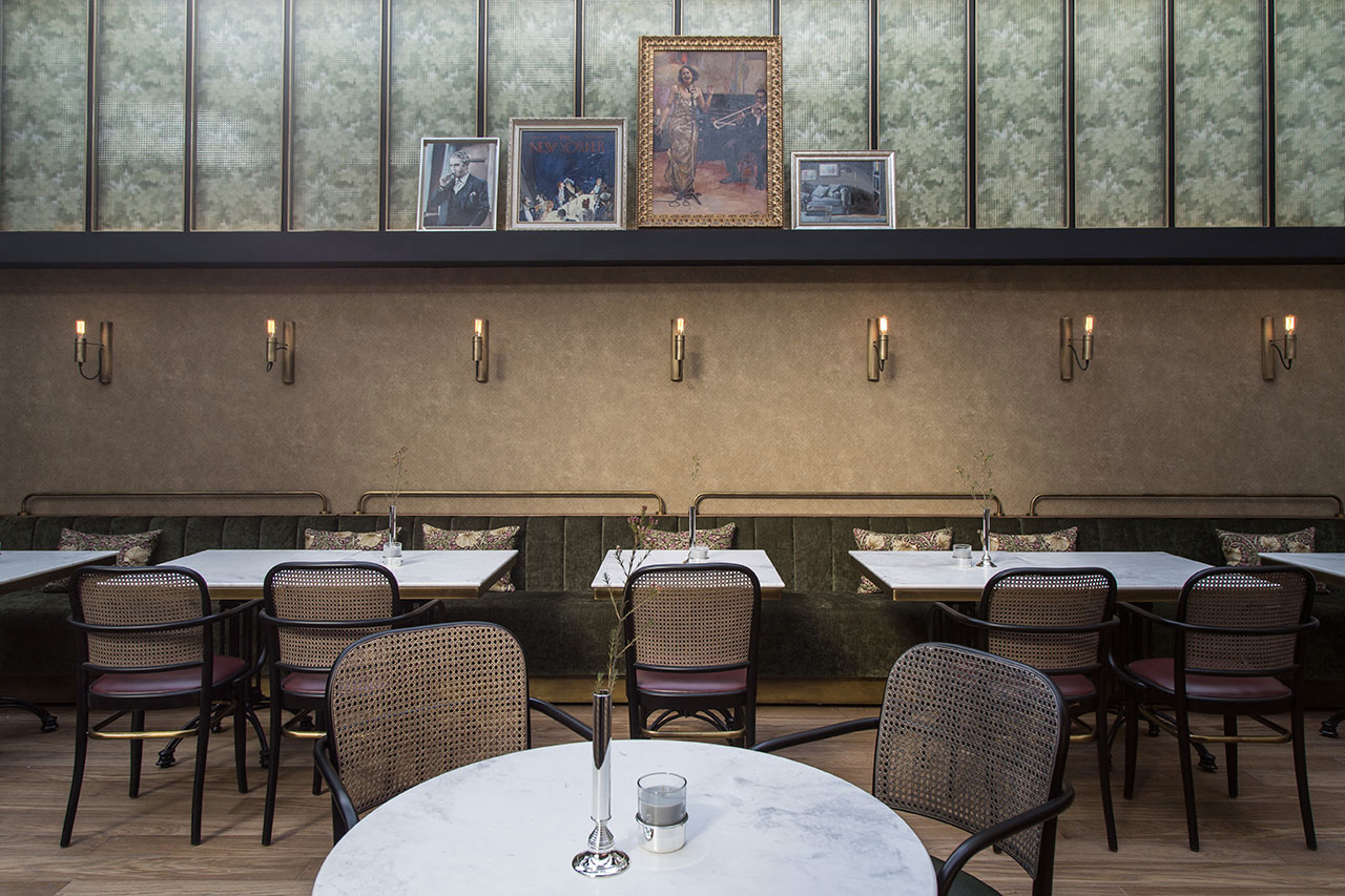 Interiors of Papillon bar and restaurant in Athens