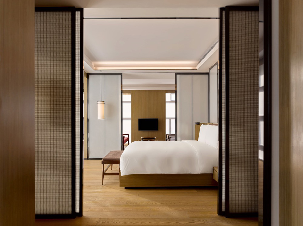 A bedroom inside the PuXuan Hotel and Spa