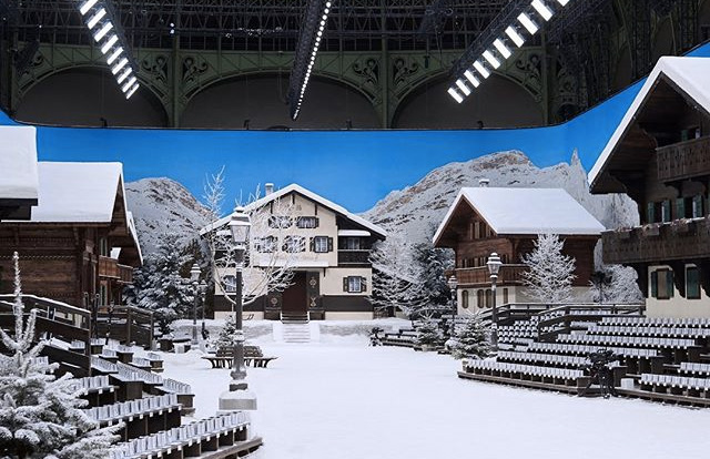 Chanel in the snow Alpine set
