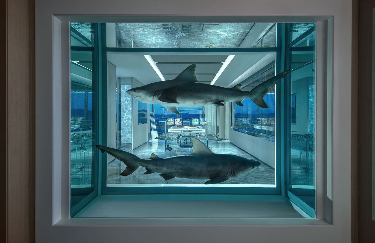 Damien Hirst's Vegas hotel room is an inhabitable art experience – for $100k per night