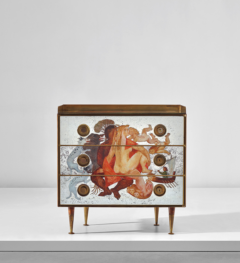 Lot 306: Chest of drawers by Gio Ponto and Edina Altara circa 1951. Estimate: £45,000 - 65,000. Courtesy of Phillips