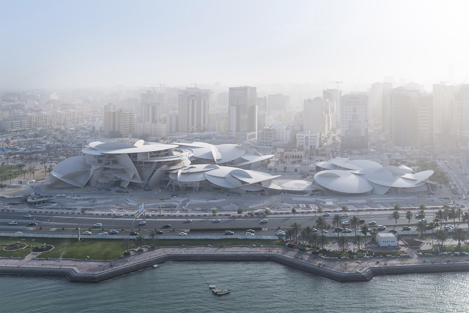 National Museum of Qatar - aerial view