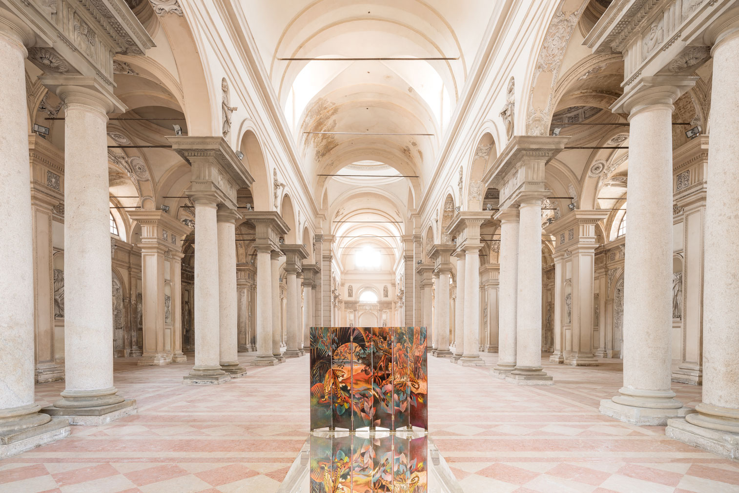 A disused church in Piacenza has been reborn as an art gallery