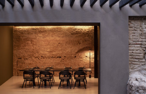 Valencia's ancient city walls shield diners at restaurant Sucede