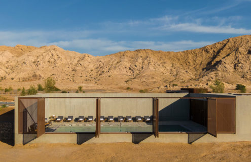 This spa and hotel is a modern oasis in the Sharjah desert