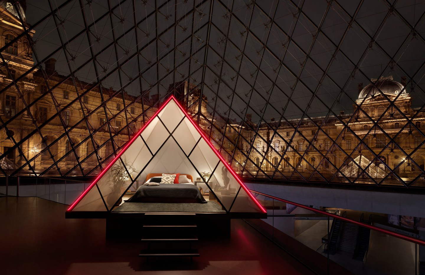 Spend the night in the Louvre courtesy of Airbnb