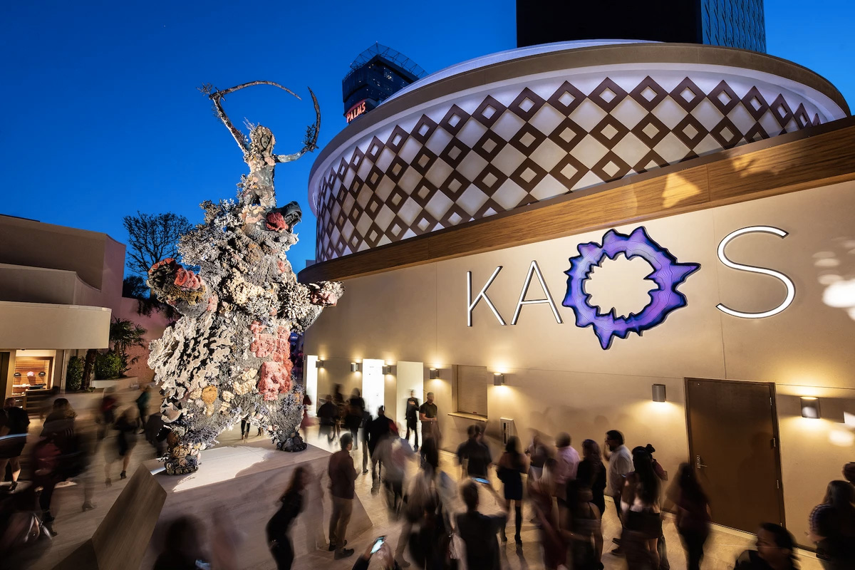 Damien Hirst installs a giant headless demon at Kaos in Las Vegas