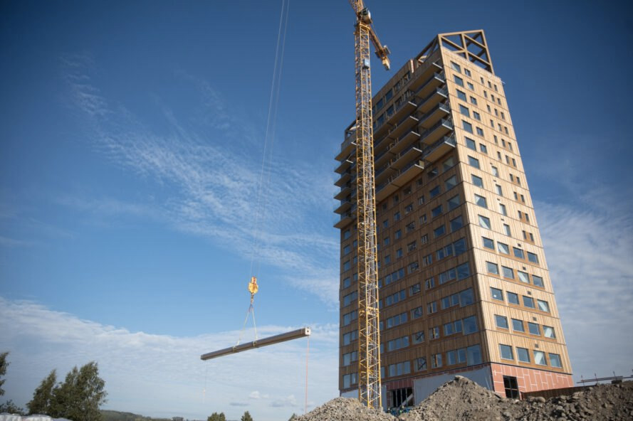The world's tallest 'plyscraper' completes in Norway