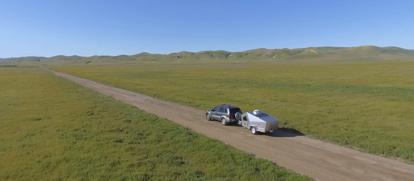The Polydrop camper is lightweight and can be towed by most cars.