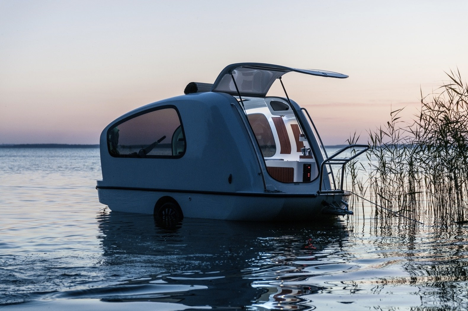 5 must-have trailers for life on the open road: the Sealander amphibious caravan