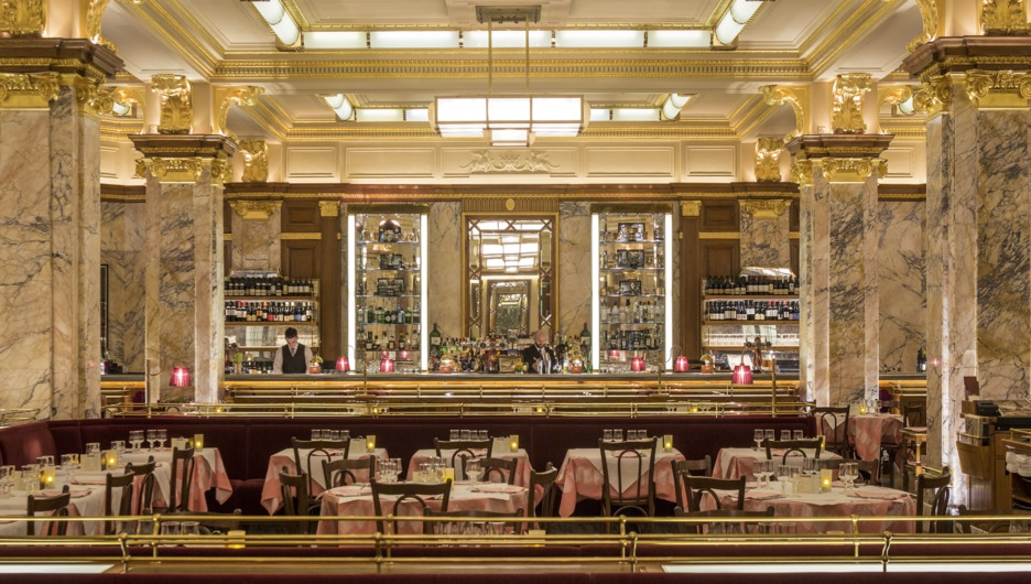 Brasserie Zedel Parisienne bistro off Piccadilly in Soho