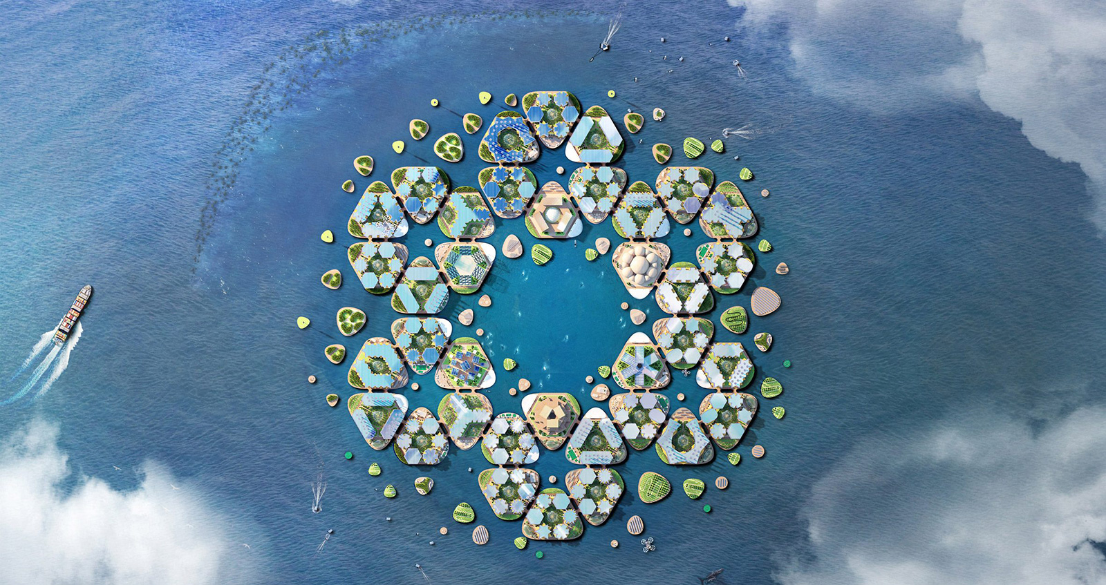 BIG designs a floating city that could survive a hurricane